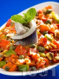 Тунизийска салата с херинга - снимка на рецептата